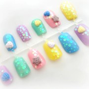 pastel goth cookie 3d kawaii nails