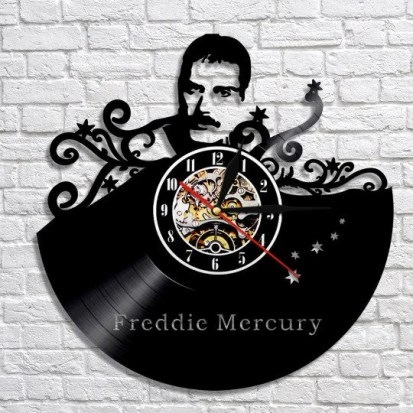 Freddie Mercury vinyl wall clock