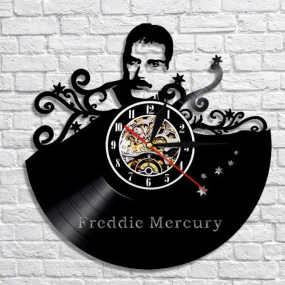 Freddie Mercury vinyl wall clock
