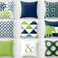 Bright Colored Sofa Covers Best Shops Throw Pillow Navy Blue Green White Stone Couch Cushion