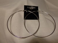 4 inch Sterling Silver Hoop Earrings. Extra Large Hoops 10cm.