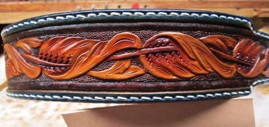 Leather dog collar, Big D...