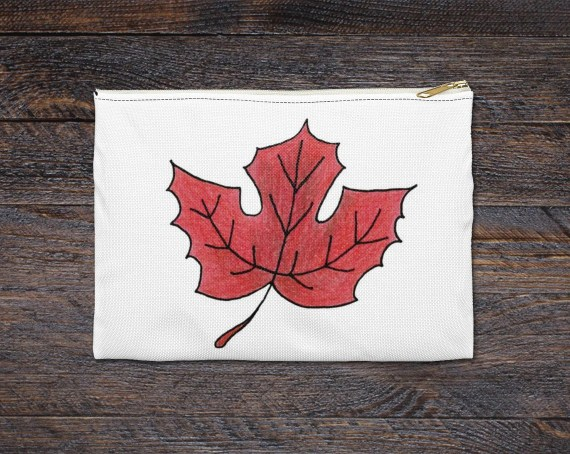 Maple Leaf Pencil & Accessory Pouch - Great Back to School Gift for Teachers and Students