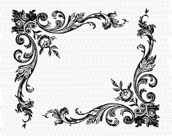 Victorian Baroque Border Stencil
