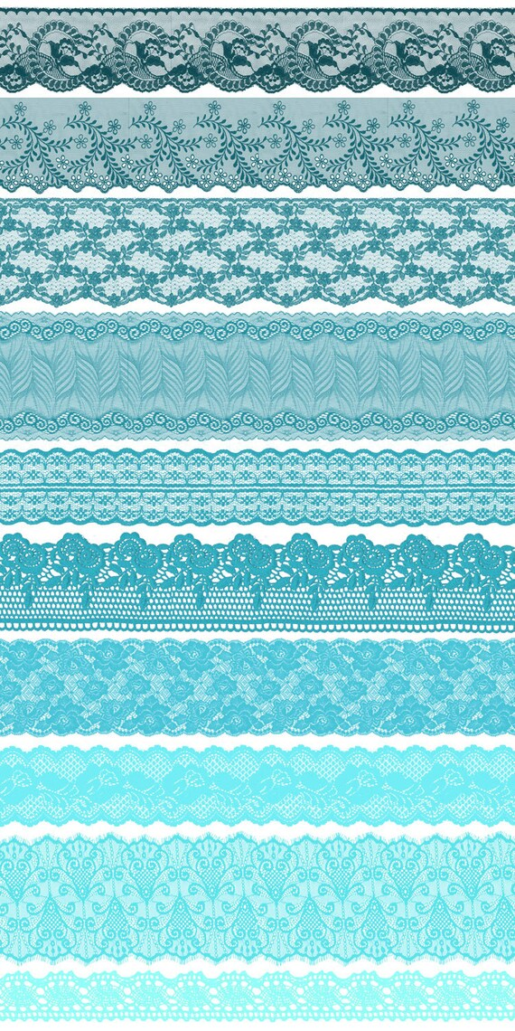 turquoise lace borders clipart