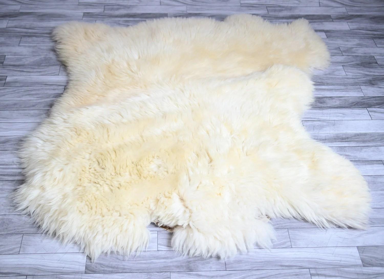 sheepskin rug on chair desk fluffy sale double shaggy cover