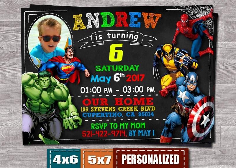 Invitar A Avengers Vengadores Invitación Invitación De