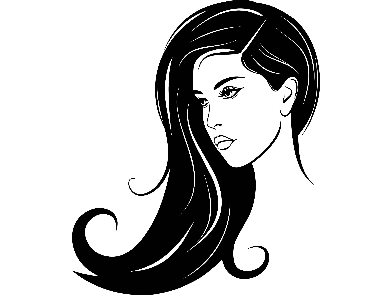 Hair Style Salon Beauty Scissors Comb Hairdresser Female