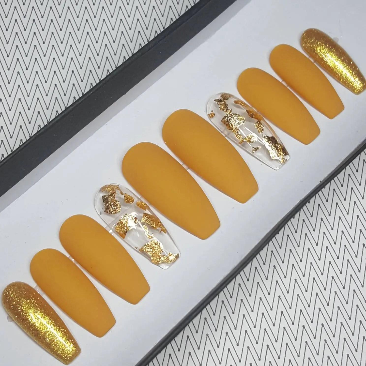 dijon mustard press nails oval