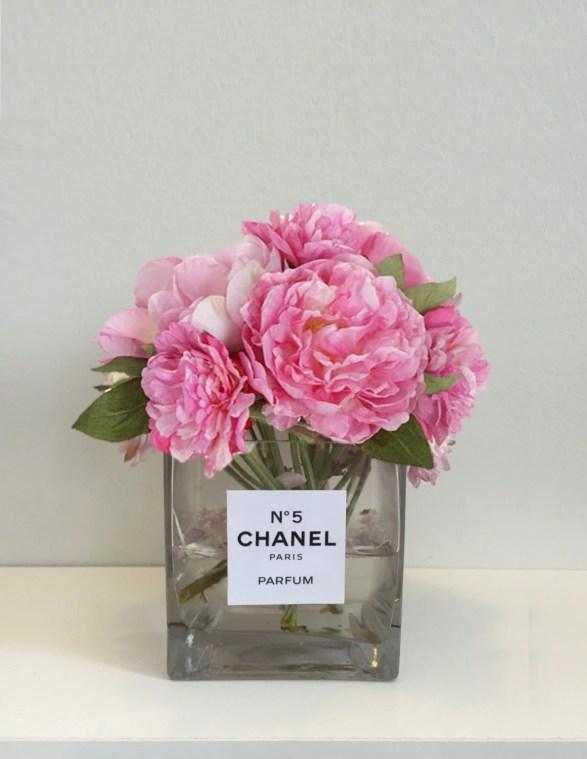 Image result for peonies in glass vase desk