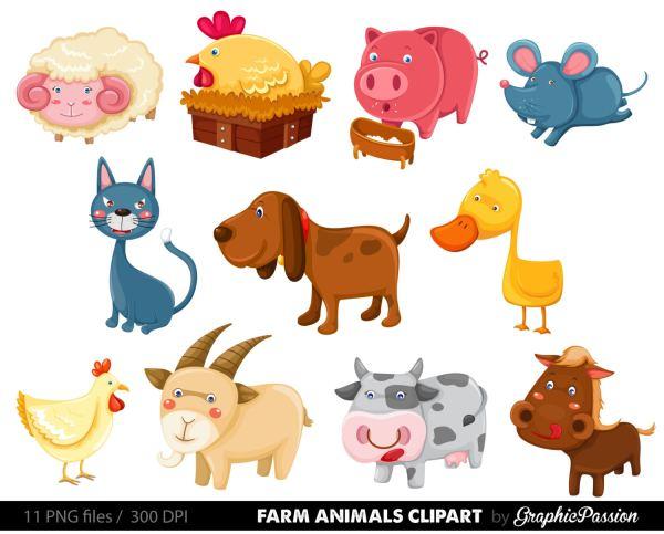 premium farm animals clip