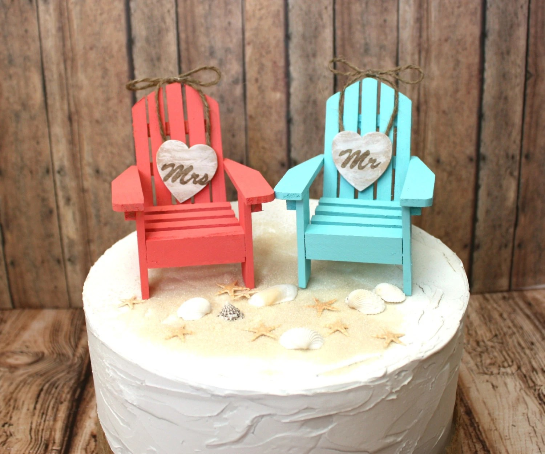 adirondack chair cake topper high back office covers beach wedding
