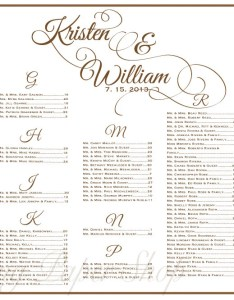 Wedding seating chart table assignments reception also charts sivandearest rh