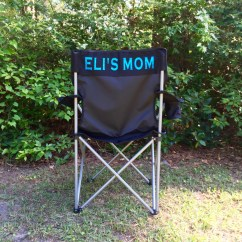 Personalized Camping Chairs Dining Room Chair Covers Big W Custom Folding Monogrammed