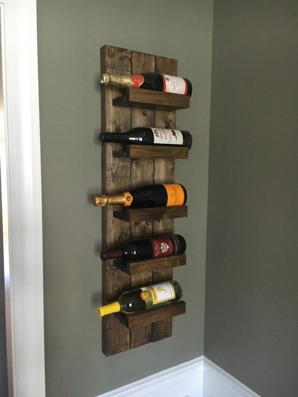 Rustic Wine Rack Spice Wall Mounted Bottle Holder