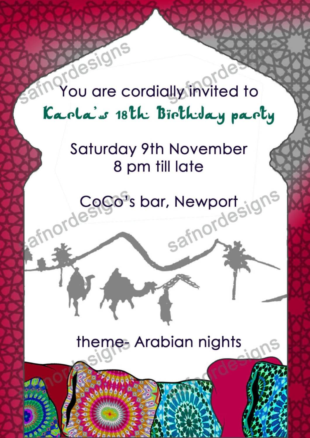 Birthday Invitation In Arabic | Invitationjdi.co