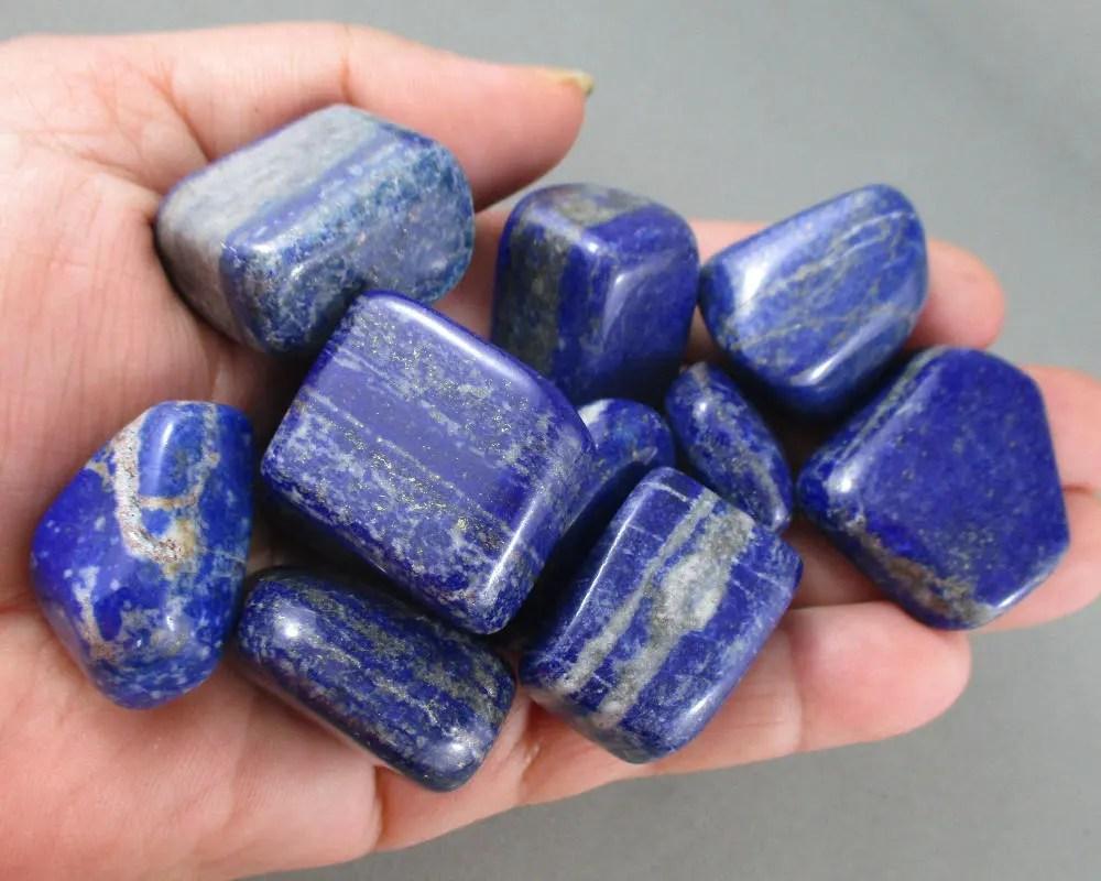 1 Lapis Lazuli Stone Tumbled Healing Crystals Stones Emf