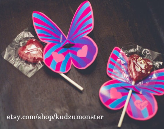 Sucker Lollipop Holder Butterfly Wings Instant Download