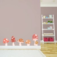 Toadstool Printed Wall Decal Vinyl Wall DecalCartoon Decal