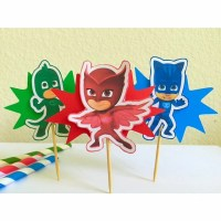 PJ Masks Cupcake Toppers-PJ Masks Birthday Party-PJ Masks