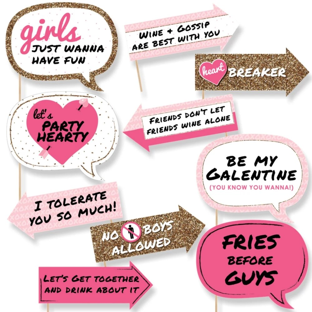 Funny Galentine S Day Photo Booth Props