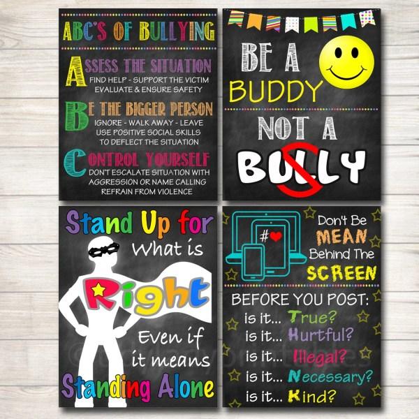 Anti-Bullying Classroom Signs