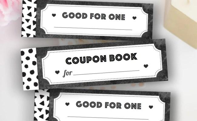 Printable Coupon Book Diy Blank Vouchers Printable Women