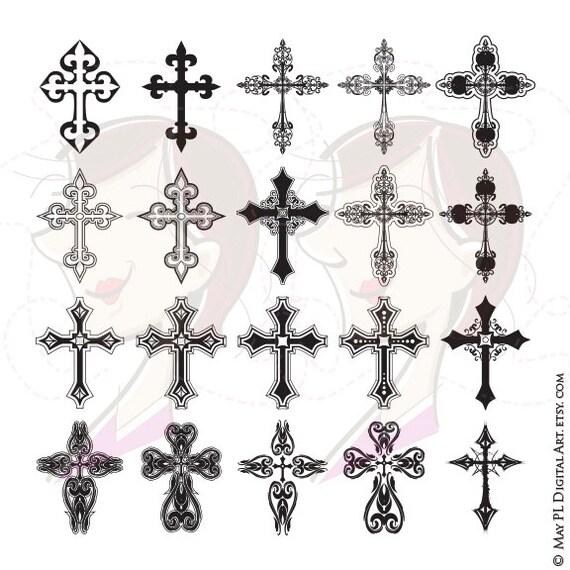 cross digital clipart ornate christian