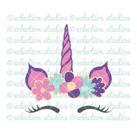 Unicorn SVG Unicorn horn and ears cake topper unicorn face