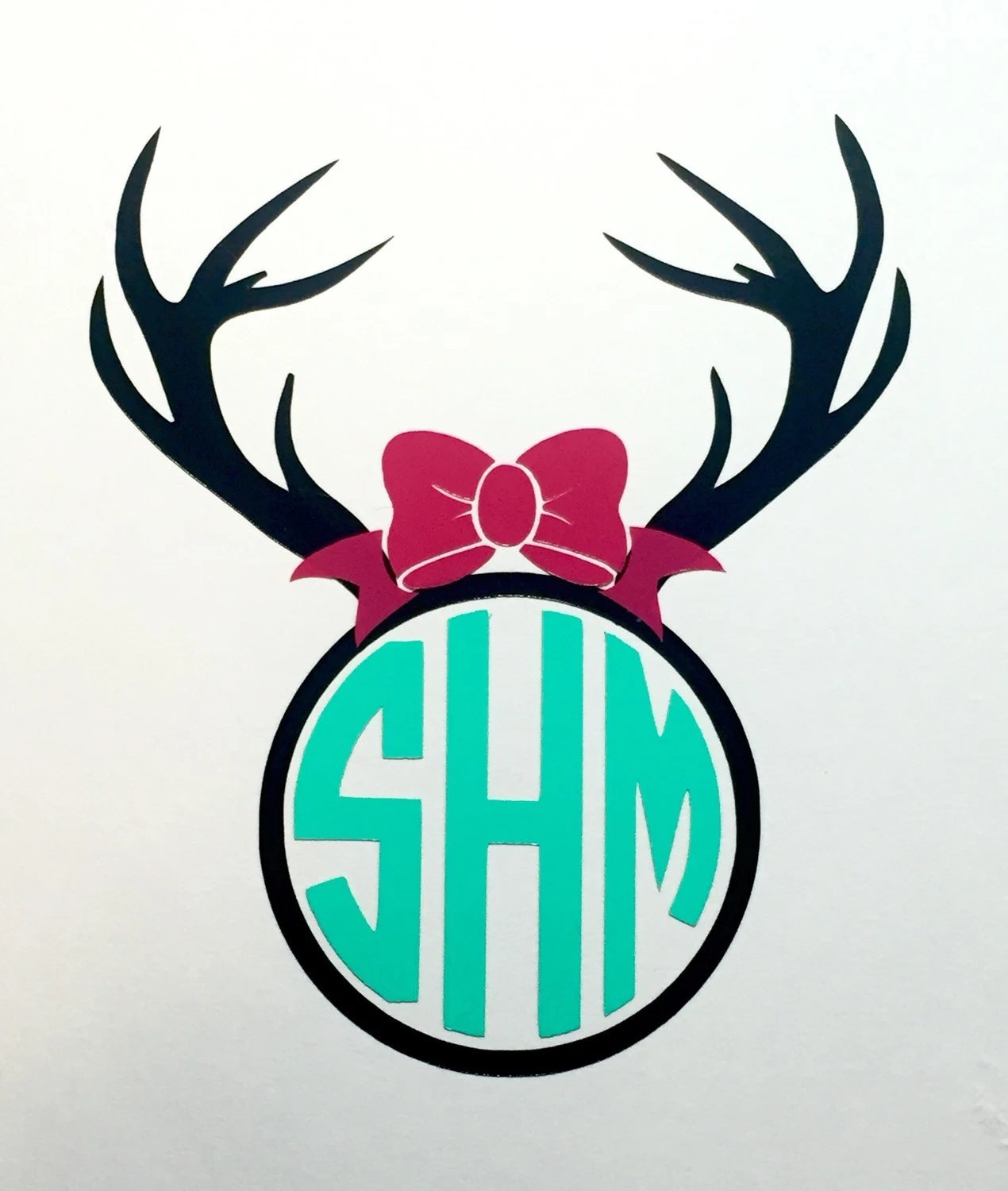 antler bow decal