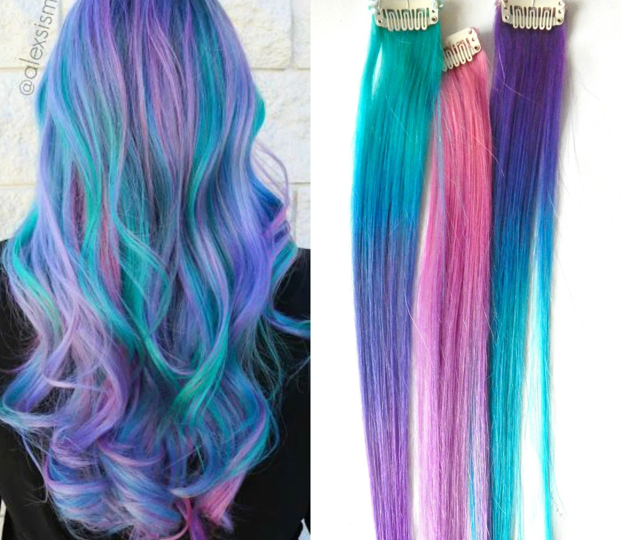 mermaid ombre hair extensions cotton