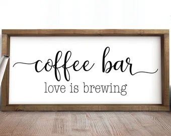 Download Coffee sign svg | Etsy