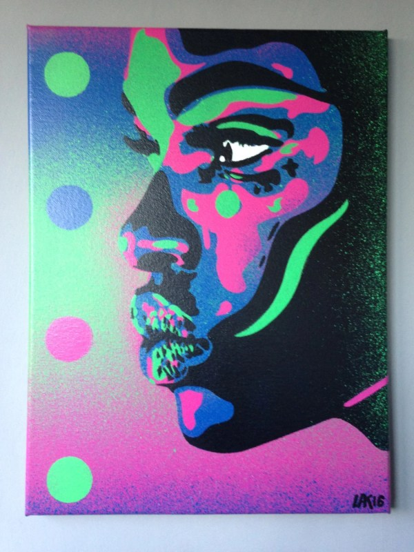 African Woman Face Painting Kiss 2 Series Stencil Art Spray