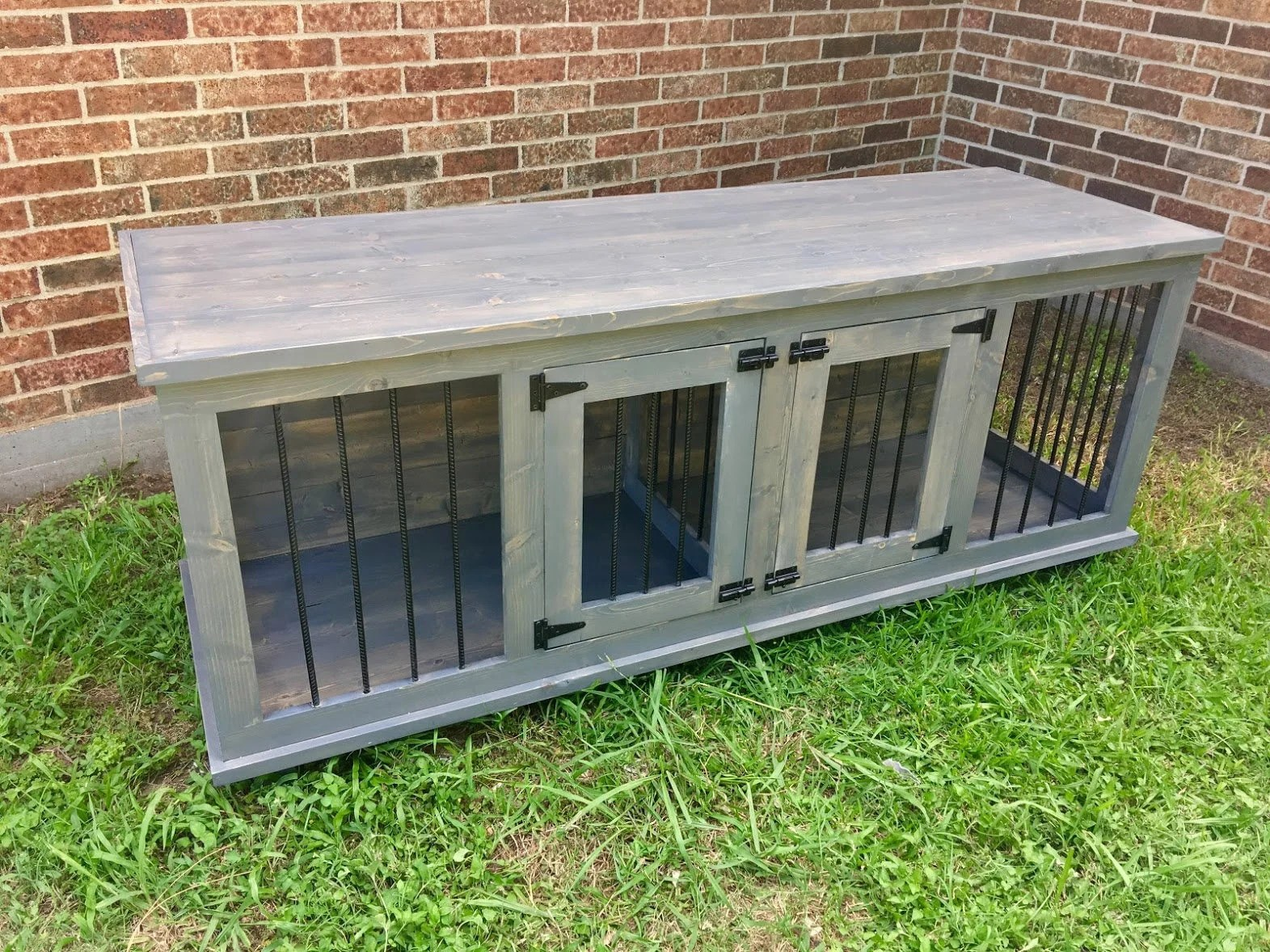 Wooden Double Dog Kennel DIY Plans Medium Size