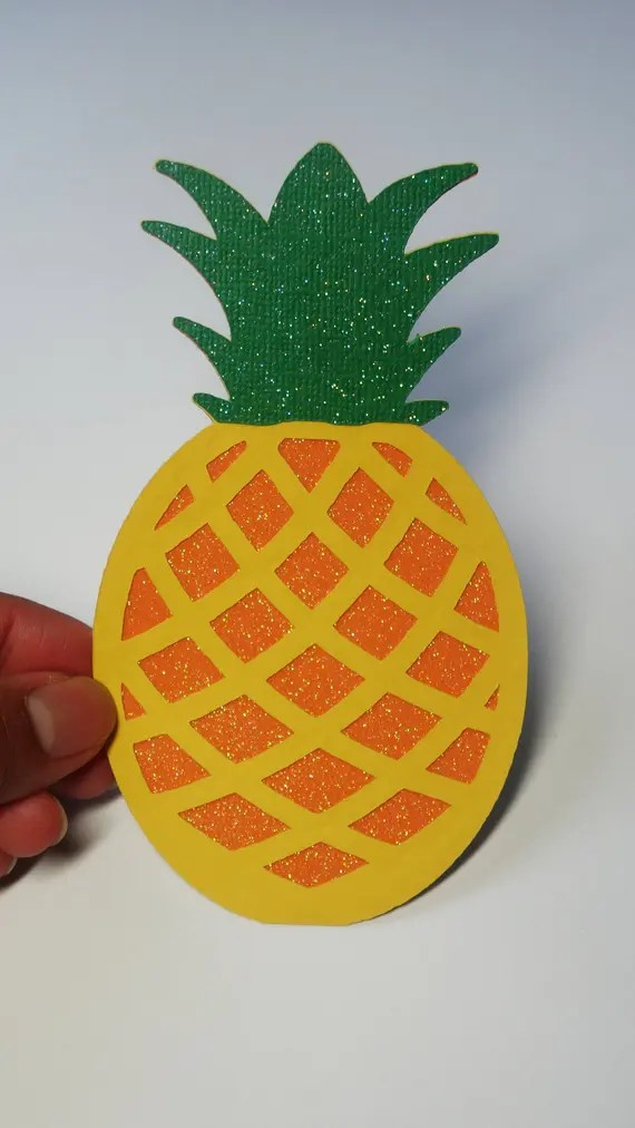 Download Pineapple SVG Cut File SVG DXF for Cameo Silhouette Cricut
