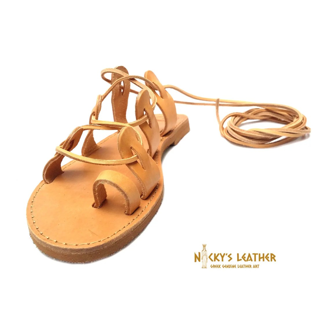 Lace up Sandals from 100 % Full Grain Leather €28.12