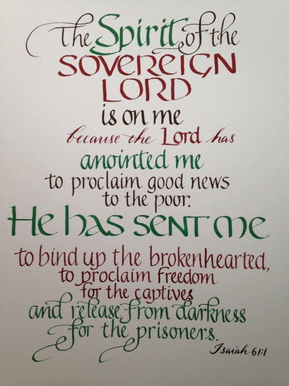 Isaiah 61 1 Ordination Gift Seminary Graduation Pastor