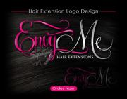 hair extensions logo design beauty
