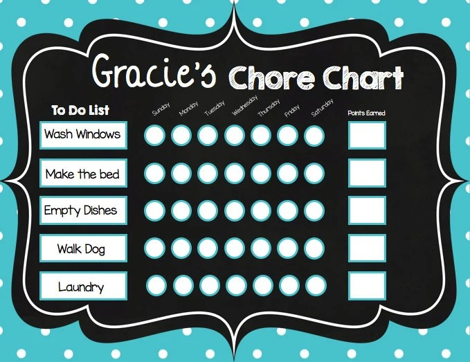 off sale chore chart editable chalkboard kids routines printable instant download also with pictures rh etsy