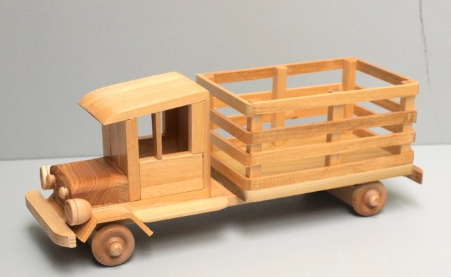 Wood Farm Truck Eco Friendly Wooden Toy Car For Kids Organic