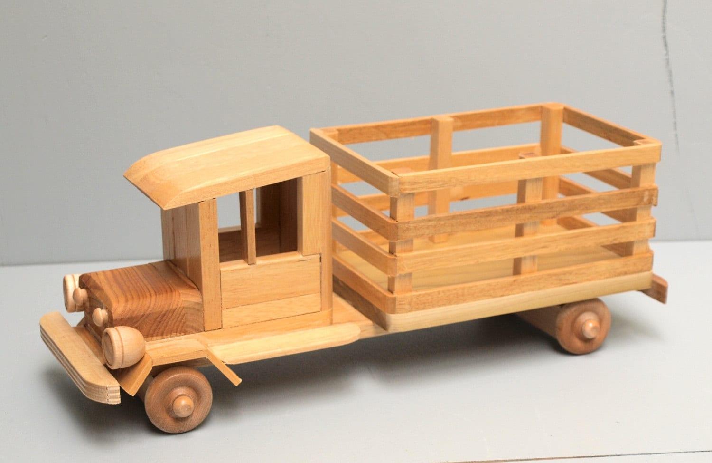 Wood Farm Truck Eco Friendly Wooden Toy Car For Kids Organic