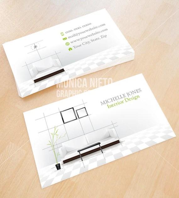 Custom Printable Interior Design Business Card Template