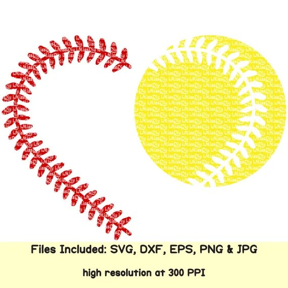 Download Love Softball Baseball Heart svg cheer mom stitches laces