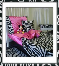 Zebra Print Toddler Bedding Set