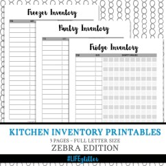 Kitchen Inventory Delta Faucets Parts Under Fontanacountryinn Com Fridge Freezer And Pantry Checklist Meal Planning