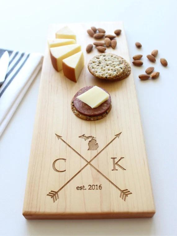 Personalized Cheese Board Custom Name State Cutting Board