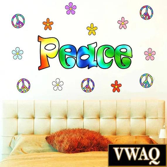 Retro Colorful Peace Wall Word by VWAQ