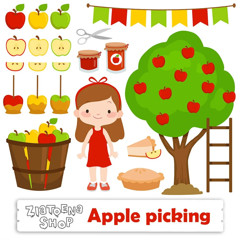apple picking clipart clip