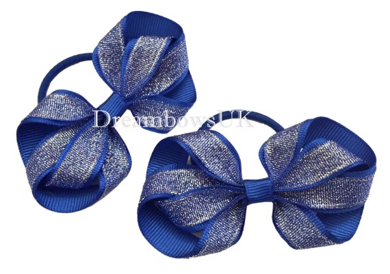 Glitter Hair Bows With Tie