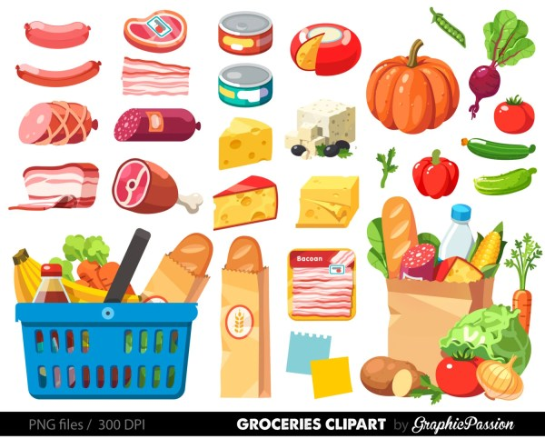 grocery clipart shopping